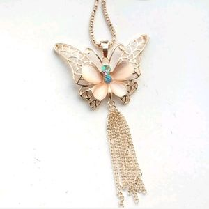 New Betesy Johnson Butterfly Necklace
